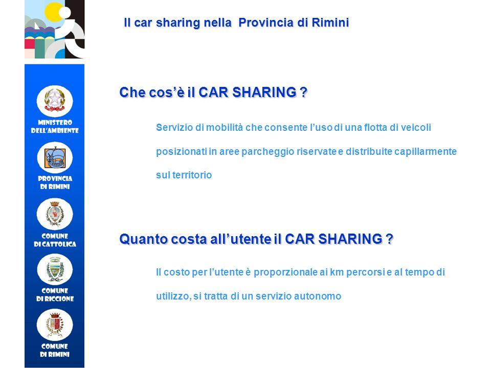 Che cos'è il CAR SHARING