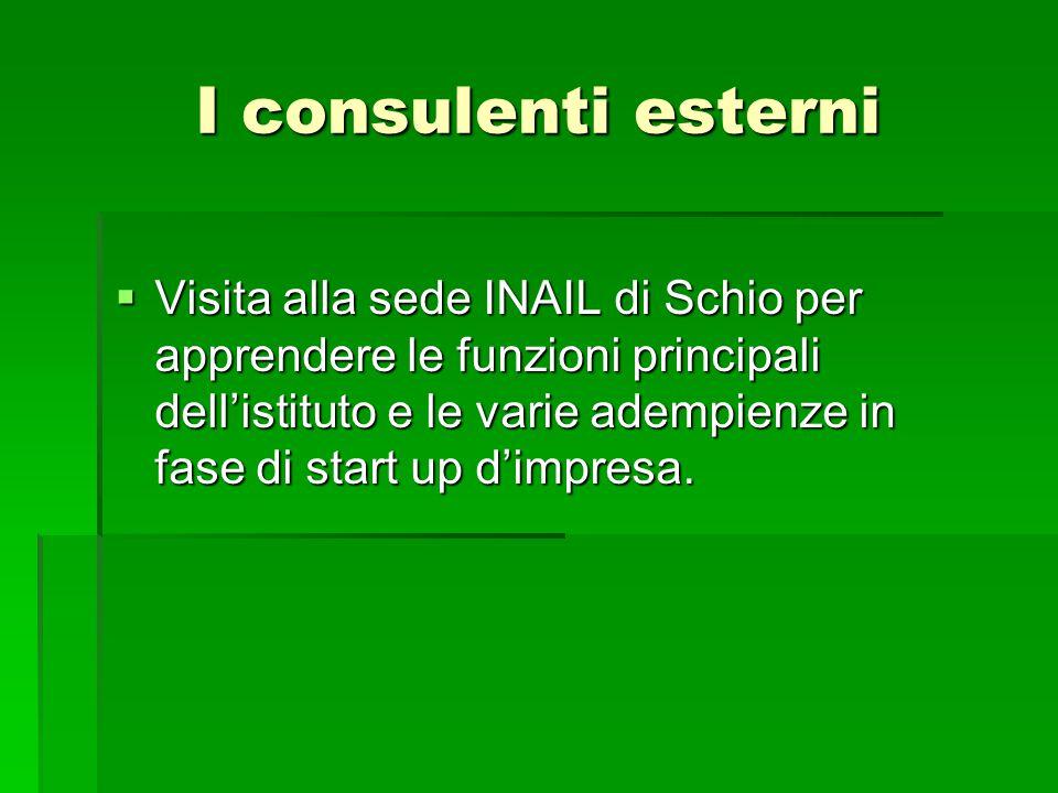 I consulenti esterni