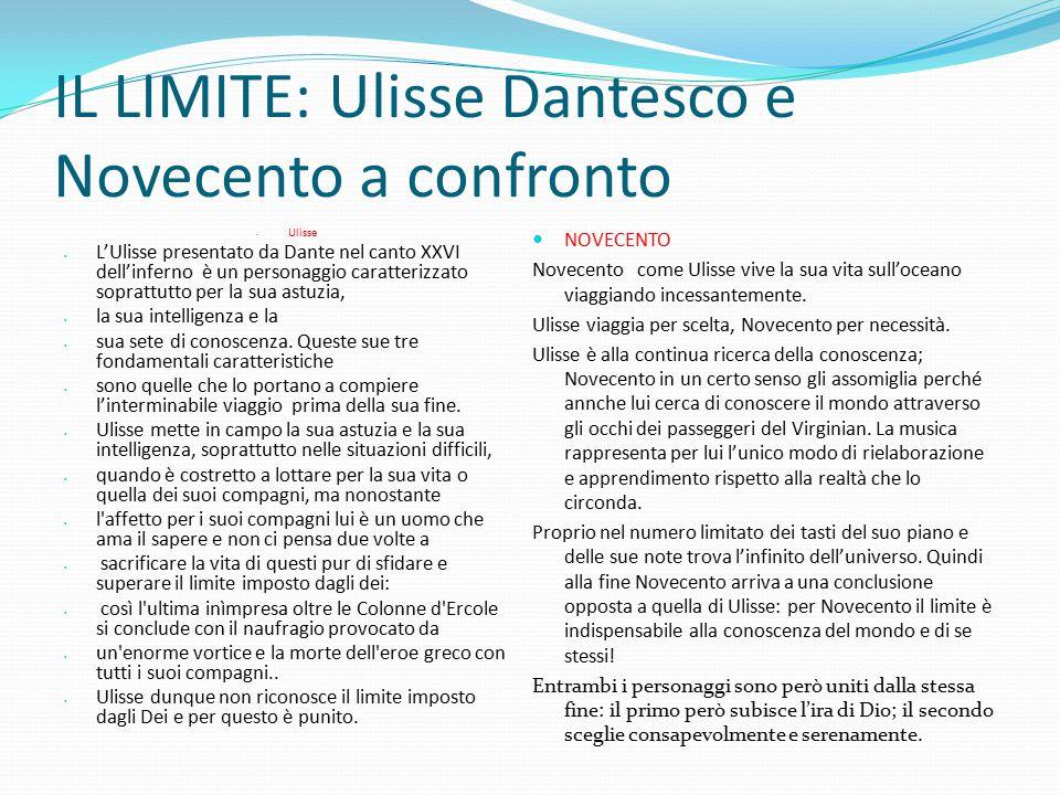 IL LIMITE: Ulisse Dantesco e Novecento a confronto