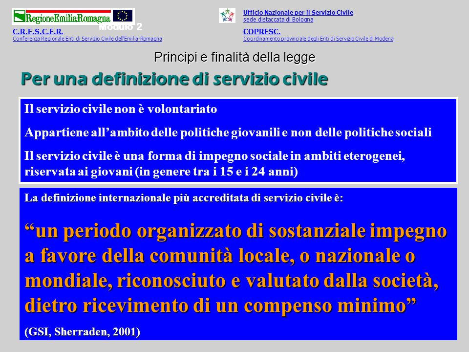 Per una definizione di servizio civile