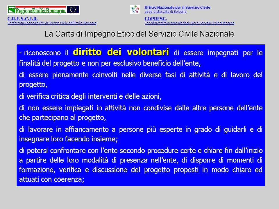 La Carta di Impegno Etico del Servizio Civile Nazionale