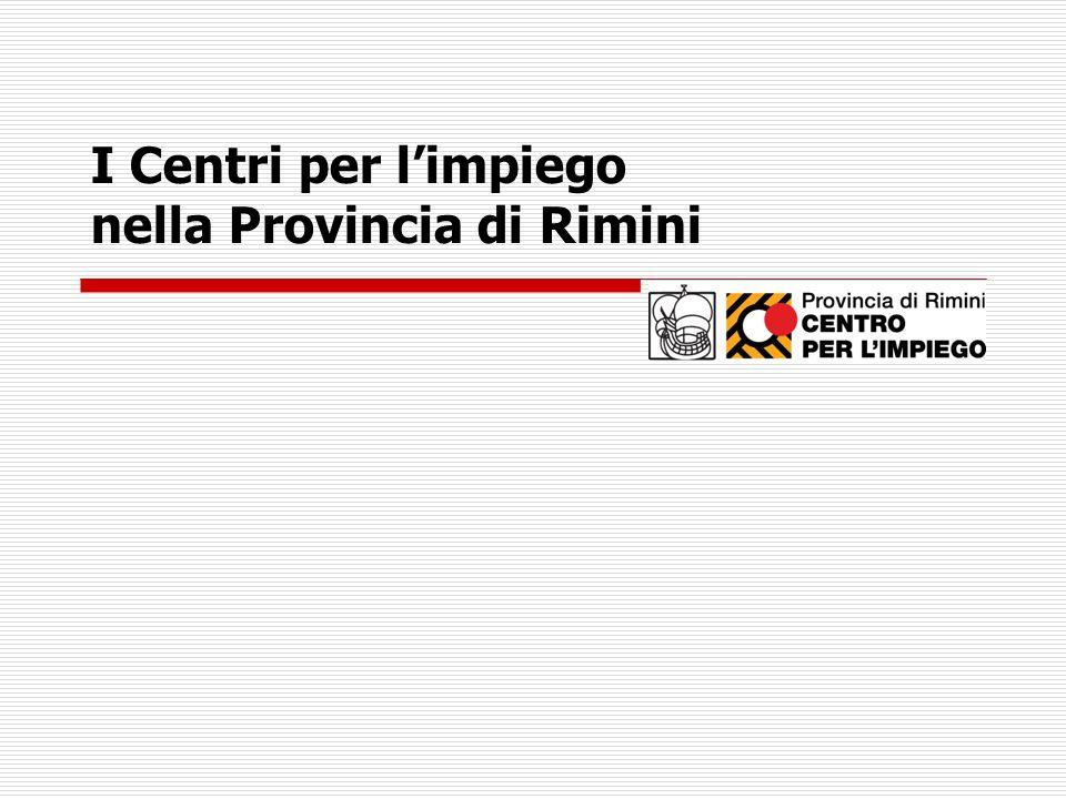 I Centri per l'impiego nella Provincia di Rimini