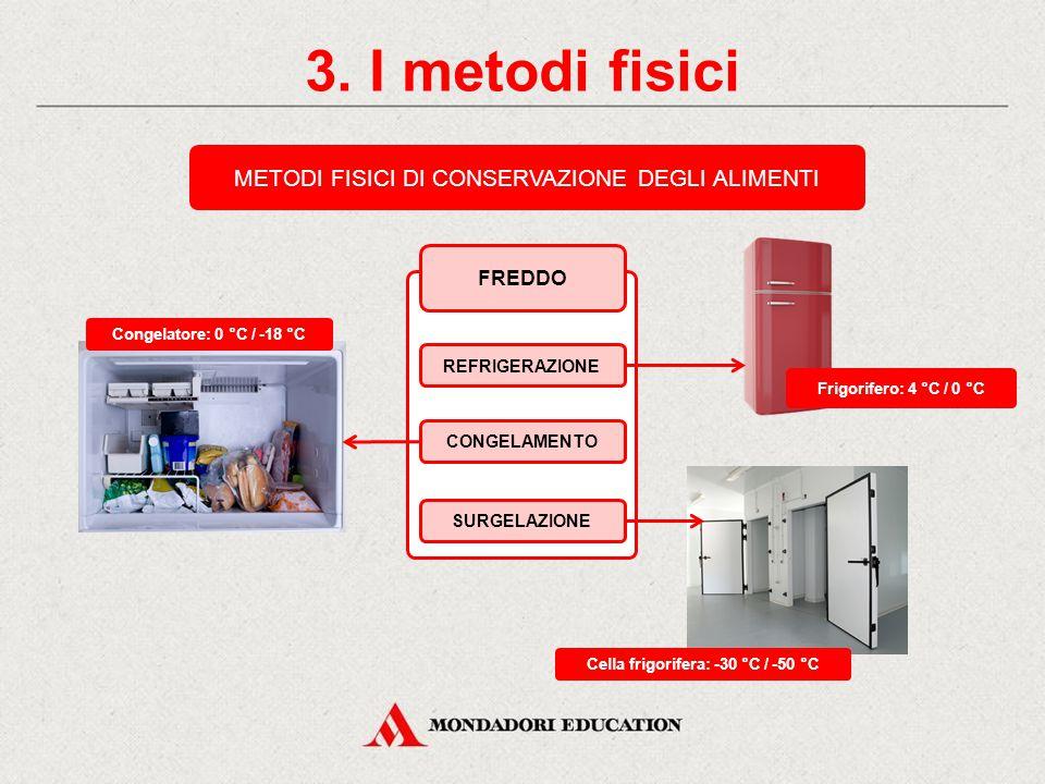 Cella frigorifera: -30 °C / -50 °C