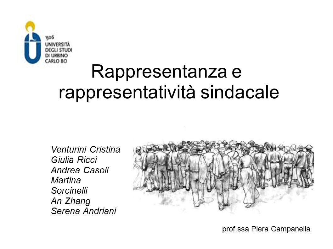 Rappresentanza e rappresentatività sindacale