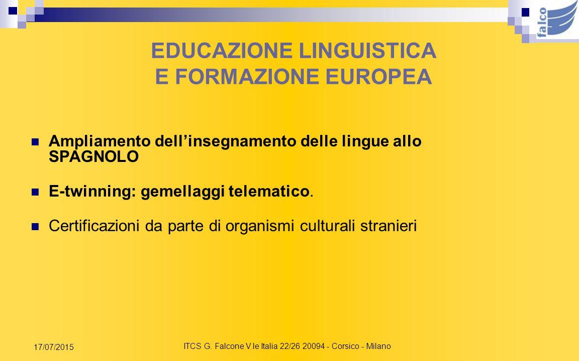 EDUCAZIONE LINGUISTICA E FORMAZIONE EUROPEA