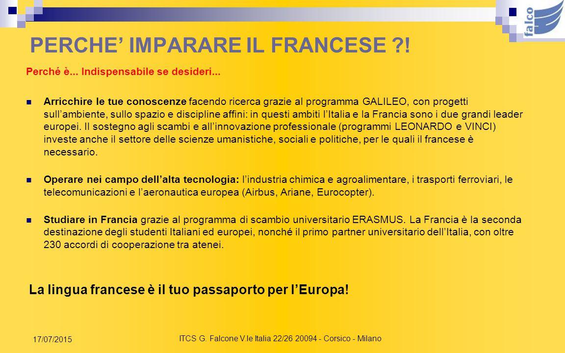 PERCHE' IMPARARE IL FRANCESE !