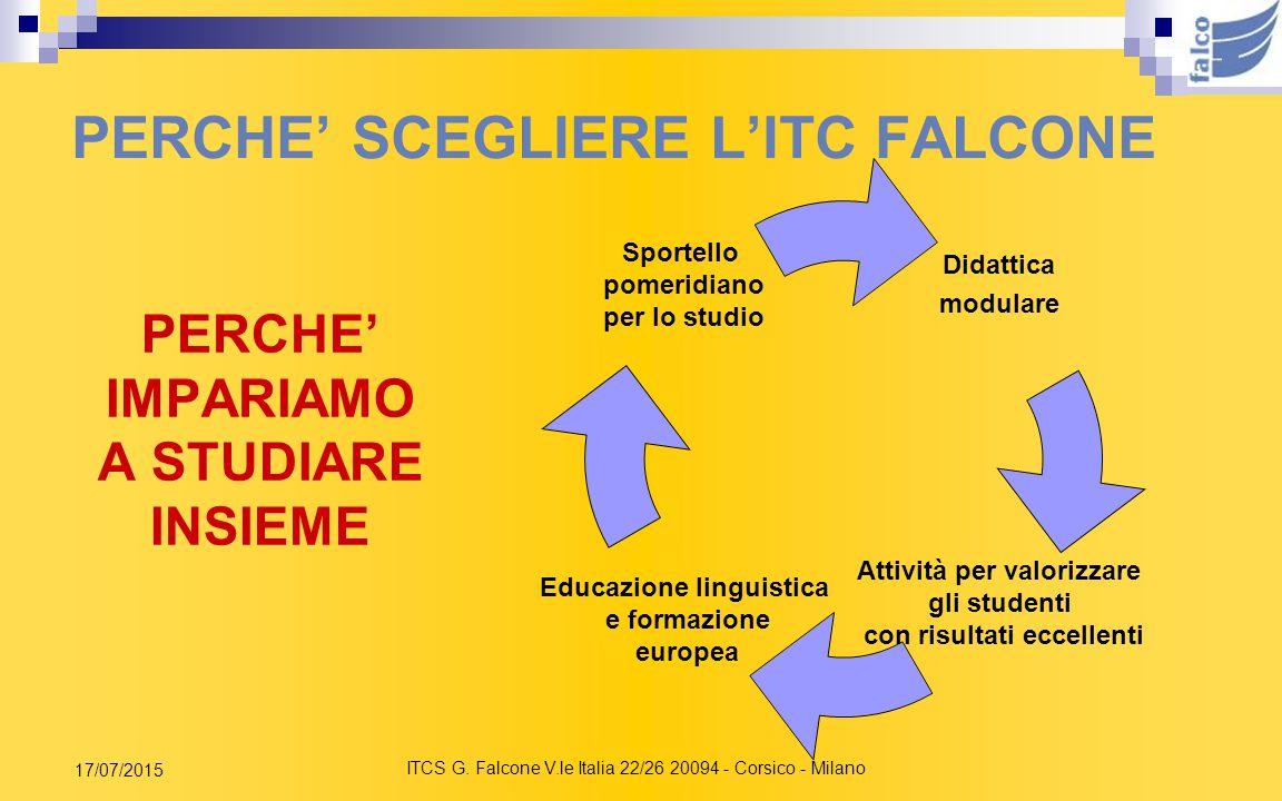 PERCHE' SCEGLIERE L'ITC FALCONE