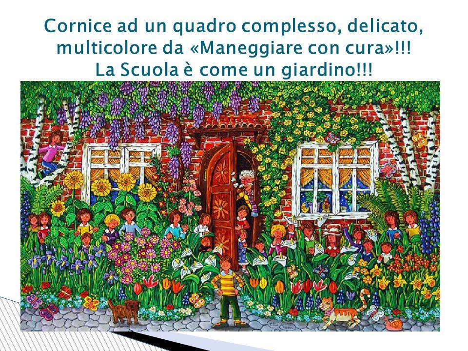 Cornice ad un quadro complesso, delicato, multicolore da «Maneggiare con cura»!!.