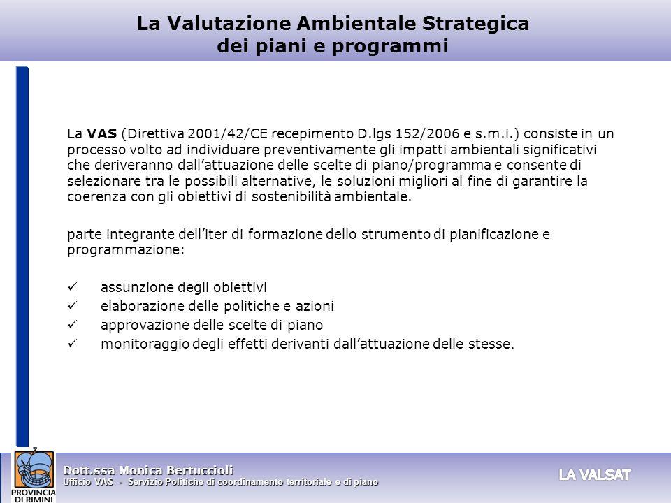 La Valutazione Ambientale Strategica dei piani e programmi