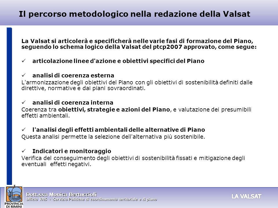 Il percorso metodologico nella redazione della Valsat