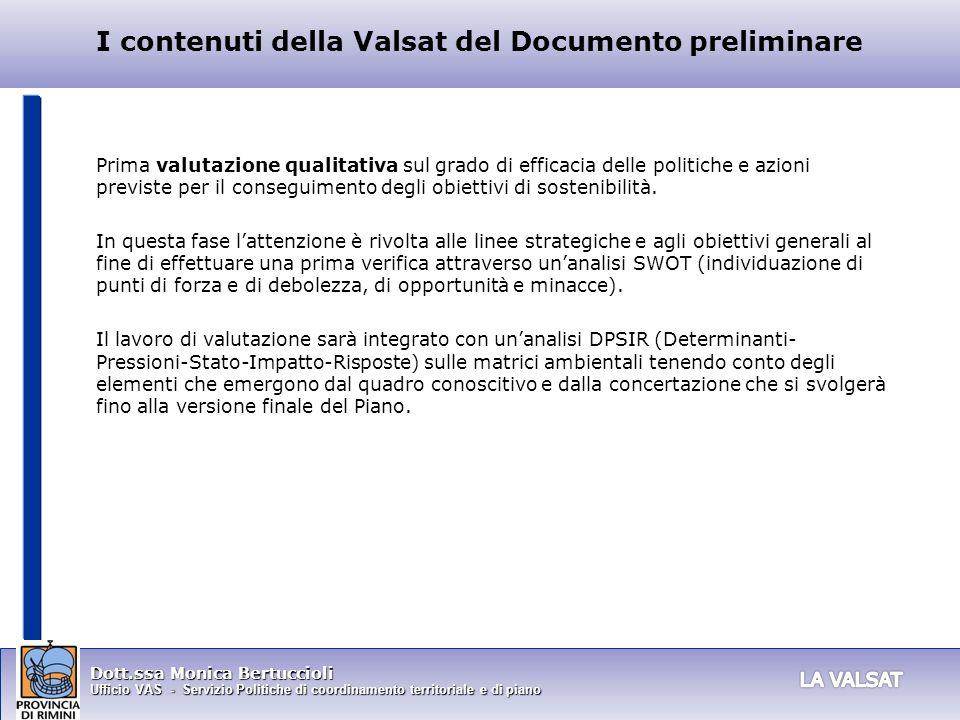 I contenuti della Valsat del Documento preliminare