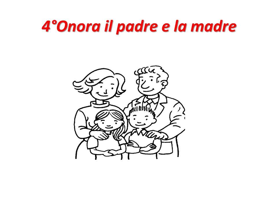 4°Onora il padre e la madre