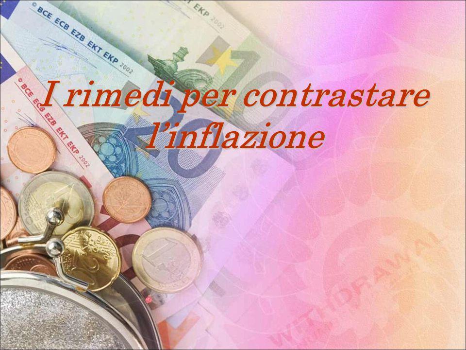 I rimedi per contrastare l'inflazione