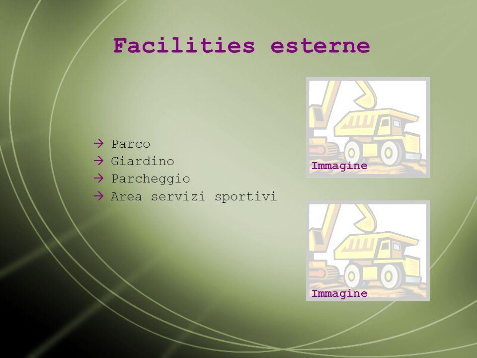 Facilities esterne Parco Giardino Parcheggio Area servizi sportivi