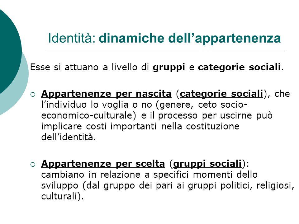 Identità: dinamiche dell'appartenenza