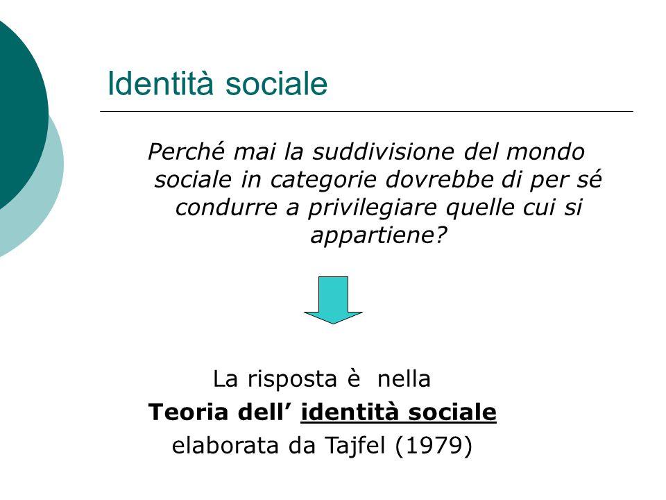 Teoria dell' identità sociale