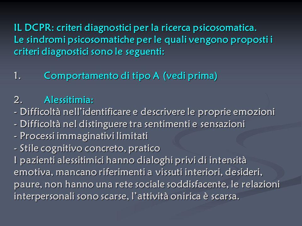 IL DCPR: criteri diagnostici per la ricerca psicosomatica
