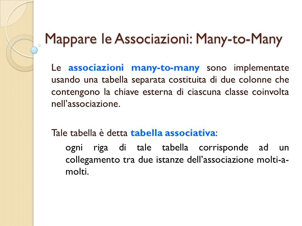 Mappare le Associazioni: Many-to-Many