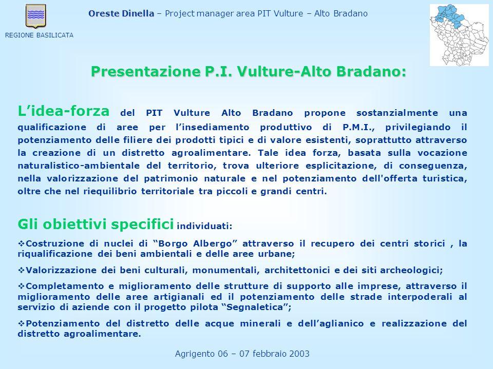 Presentazione P.I. Vulture-Alto Bradano:
