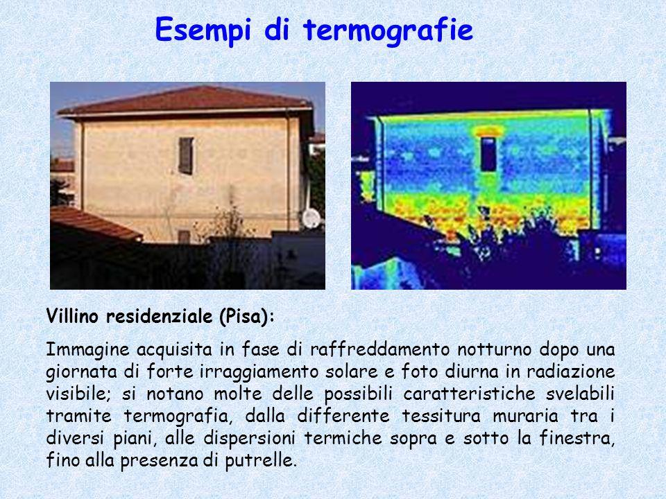 Esempi di termografie Villino residenziale (Pisa):