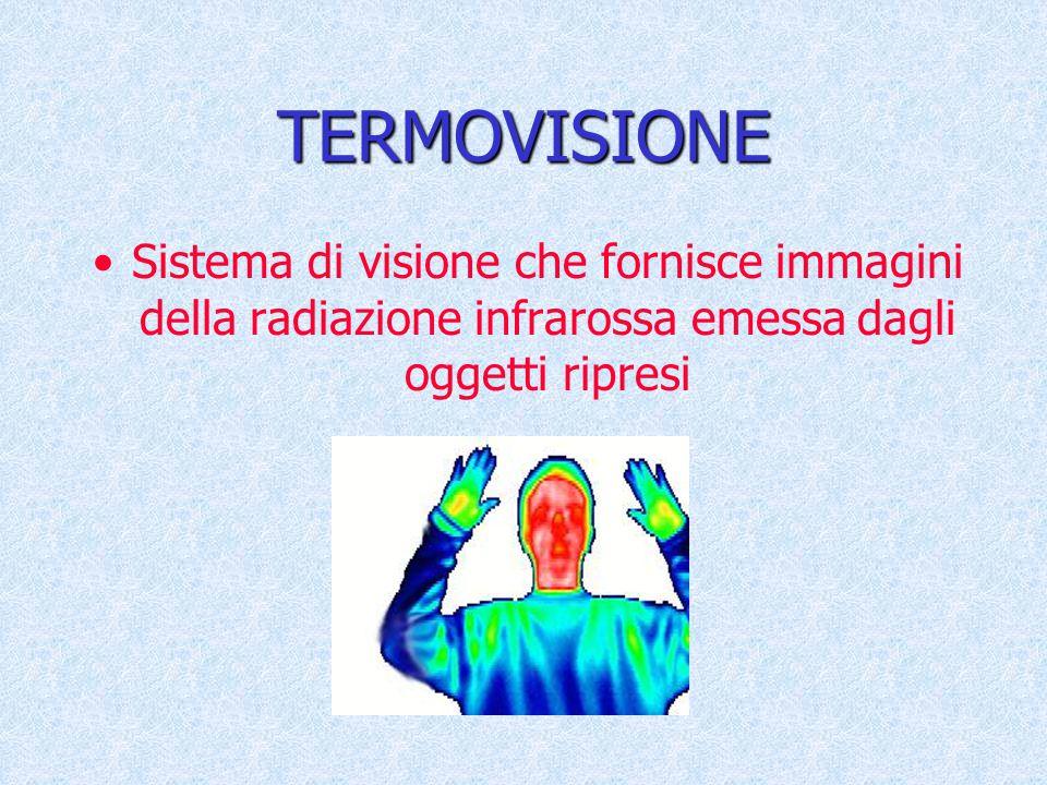 TERMOVISIONE Sistema di visione che fornisce immagini della radiazione infrarossa emessa dagli oggetti ripresi.