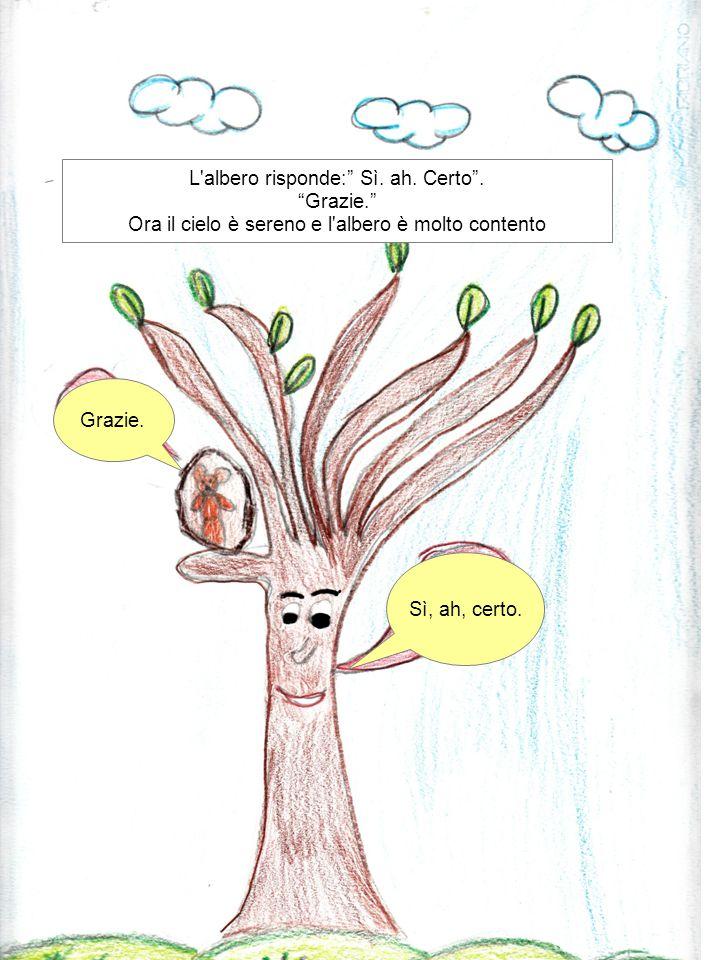 L albero risponde: Sì. ah. Certo . Grazie.