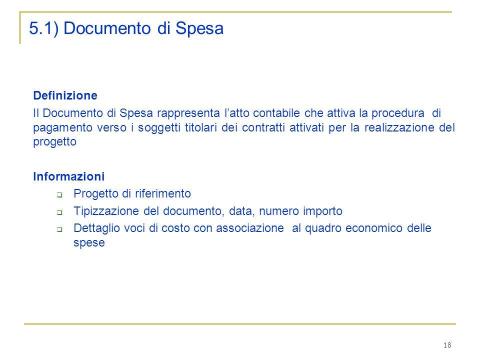 5.1) Documento di Spesa Definizione