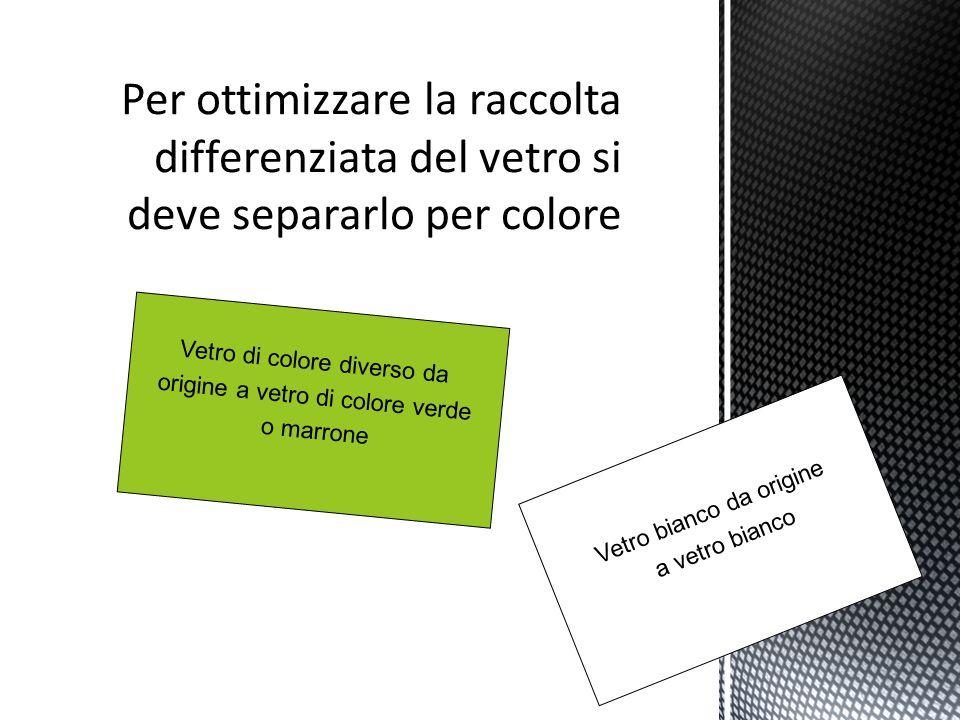 Per ottimizzare la raccolta differenziata del vetro si deve separarlo per colore