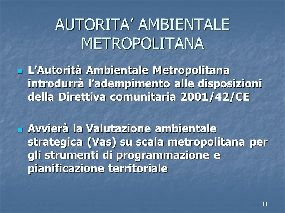 AUTORITA' AMBIENTALE METROPOLITANA