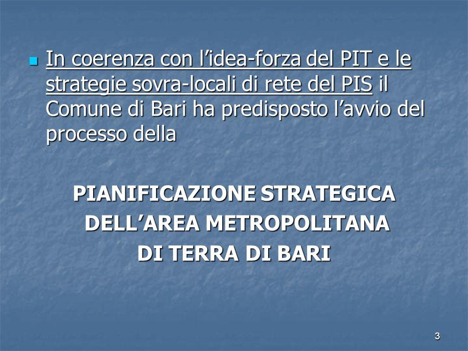 PIANIFICAZIONE STRATEGICA DELL'AREA METROPOLITANA