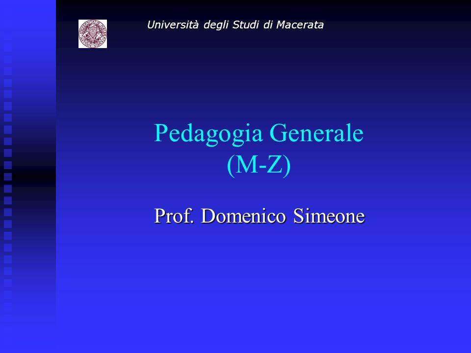 Pedagogia Generale (M-Z)
