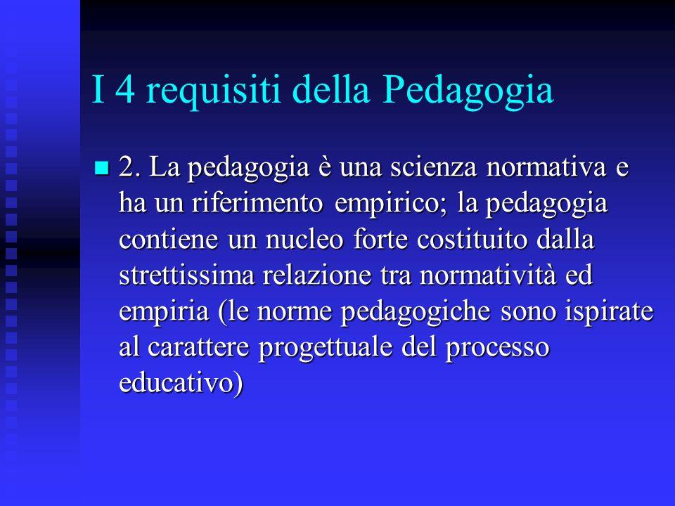 I 4 requisiti della Pedagogia