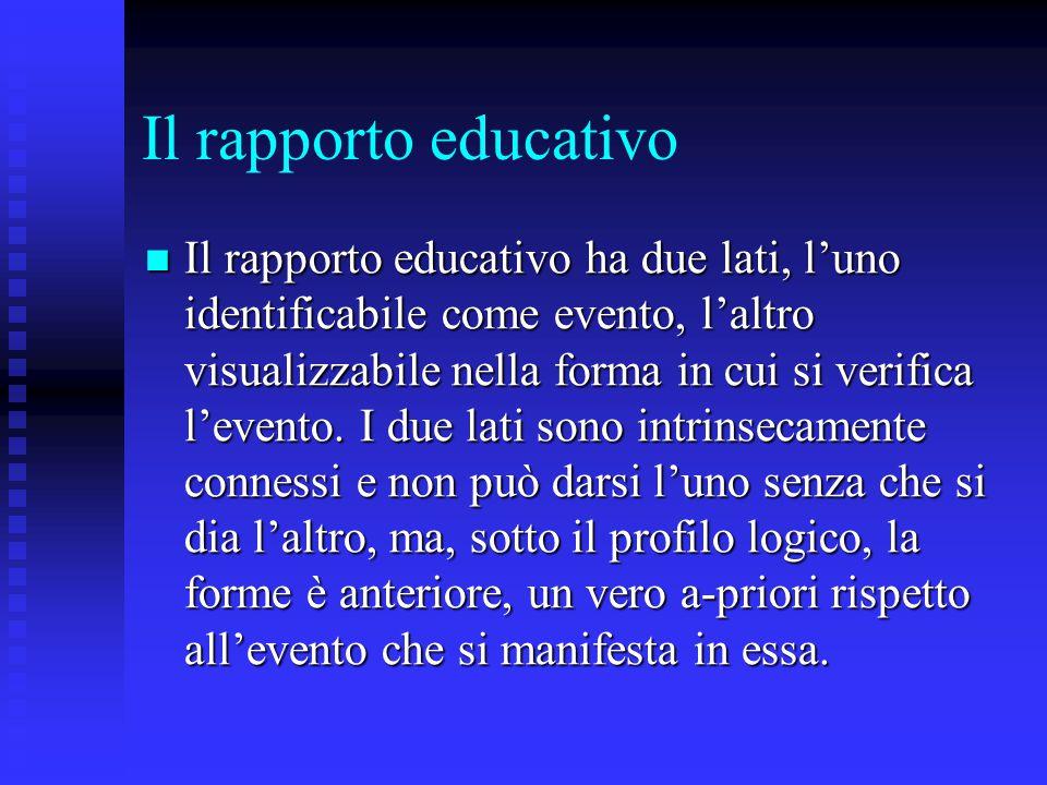 Il rapporto educativo