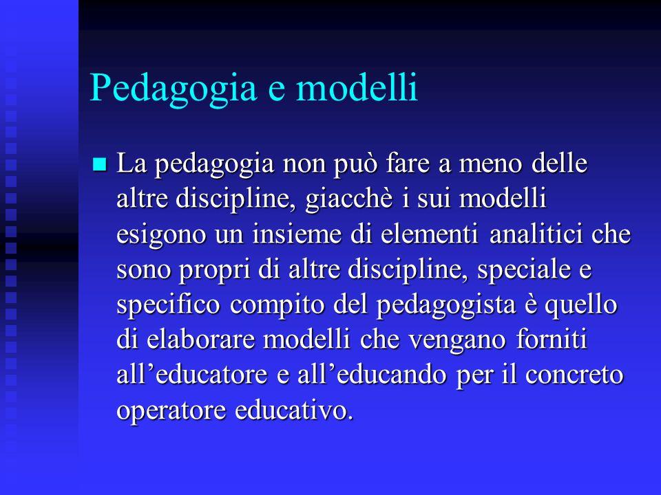 Pedagogia e modelli