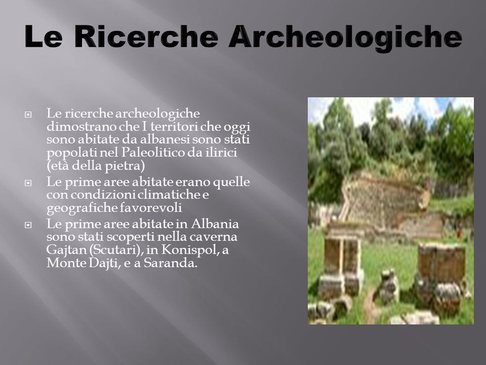Le Ricerche Archeologiche