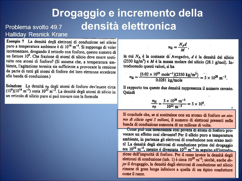 Drogaggio e incremento della densità elettronica