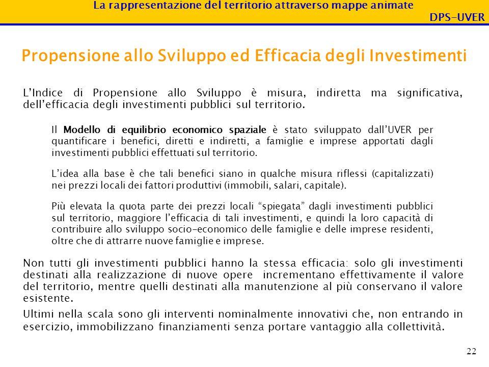 Propensione allo Sviluppo ed Efficacia degli Investimenti