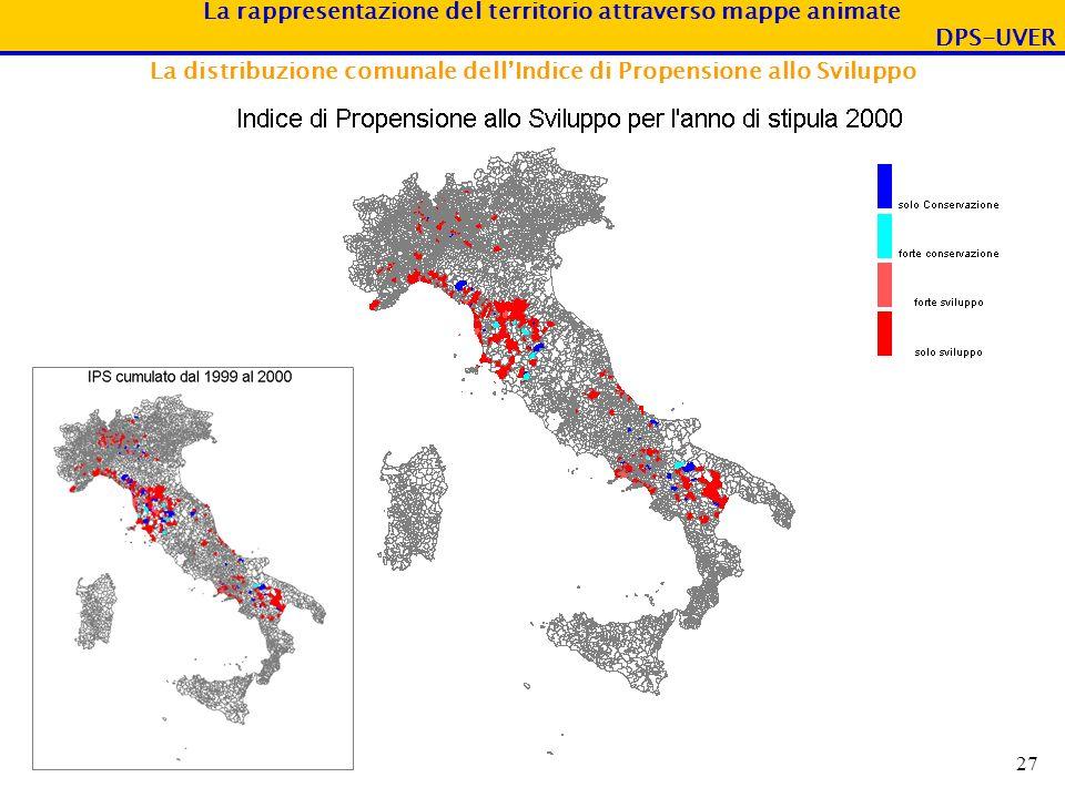 La distribuzione comunale dell'Indice di Propensione allo Sviluppo