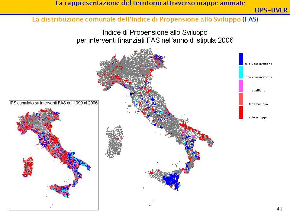 La distribuzione comunale dell'Indice di Propensione allo Sviluppo (FAS)