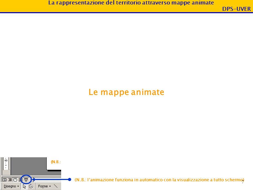 Le mappe animate (N.B.: l'animazione funziona in automatico con la visualizzazione a tutto schermo)