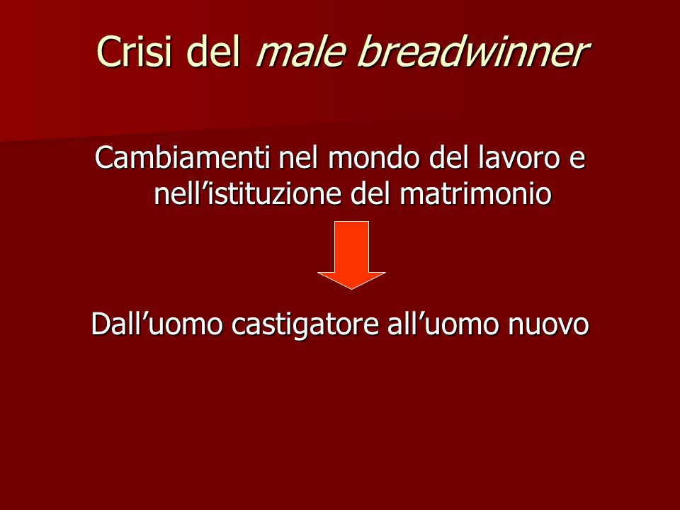 Crisi del male breadwinner