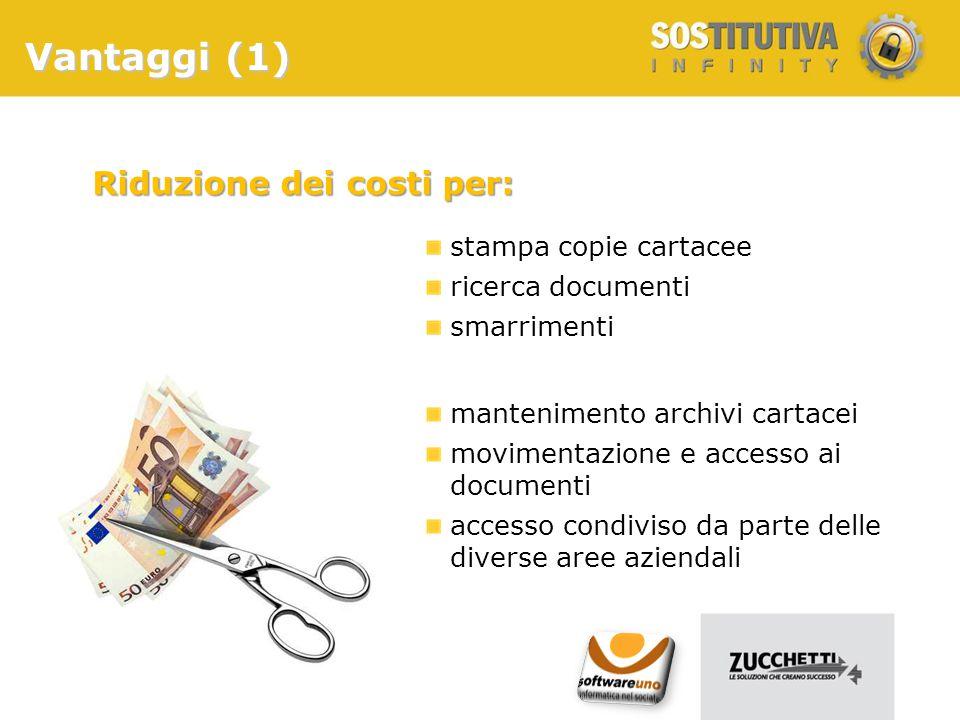 Riduzione dei costi per: