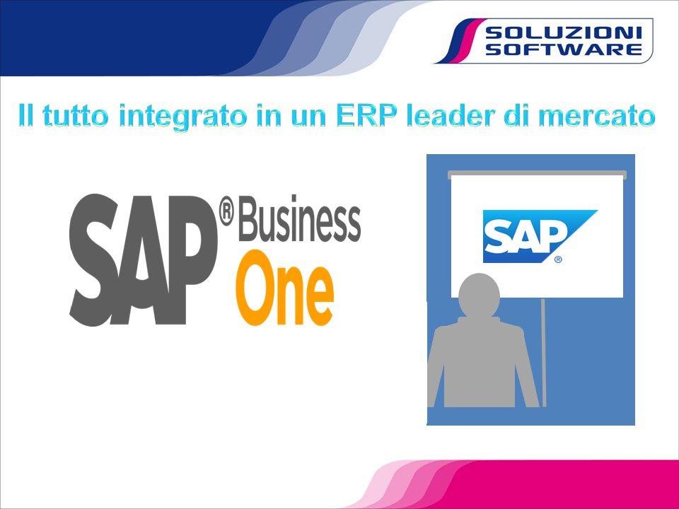Il tutto integrato in un ERP leader di mercato