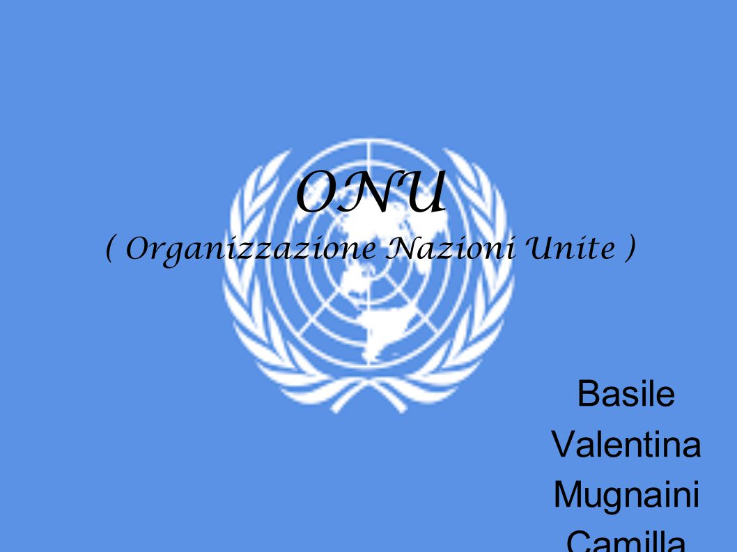 ONU ( Organizzazione Nazioni Unite )
