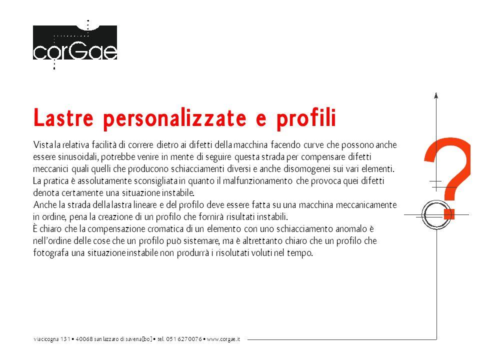 Lastre personalizzate e profili