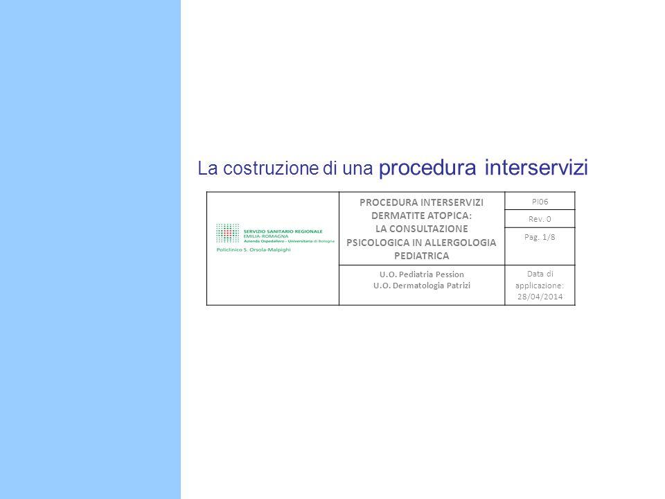 B La costruzione di una procedura interservizi PROCEDURA INTERSERVIZI