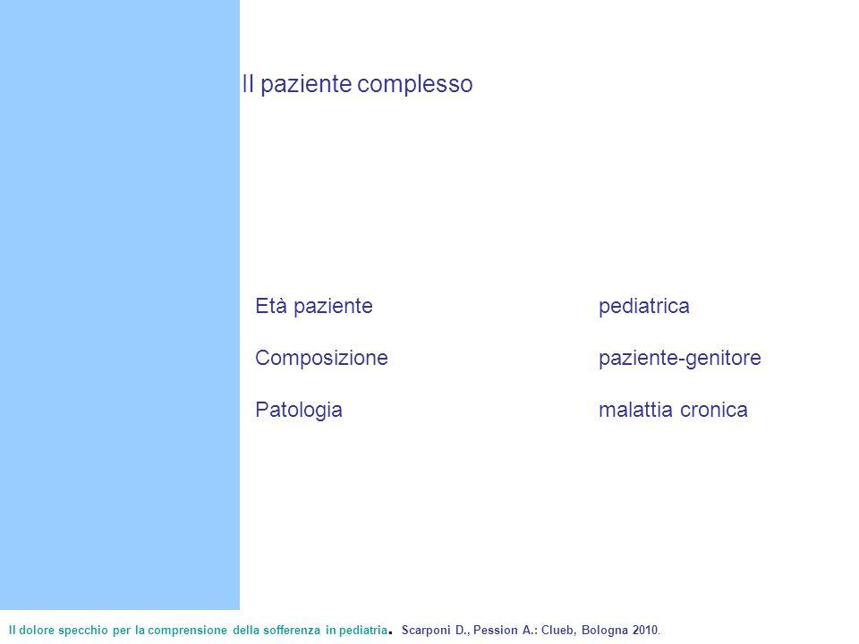Il paziente complesso Età paziente pediatrica