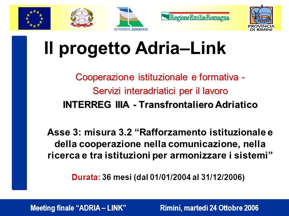 Il progetto Adria–Link