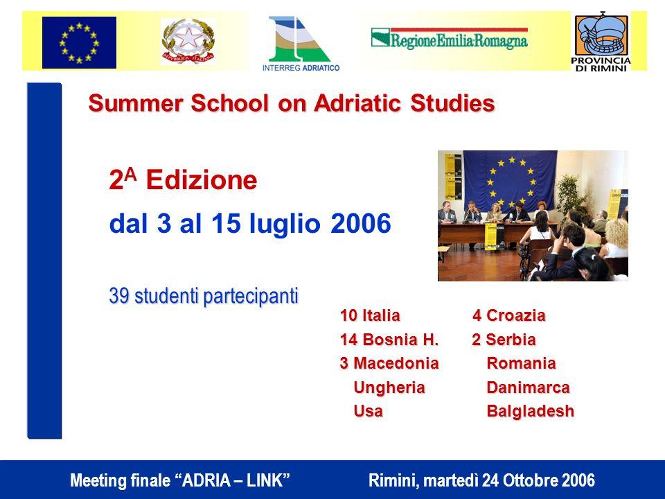 Summer School on Adriatic Studies