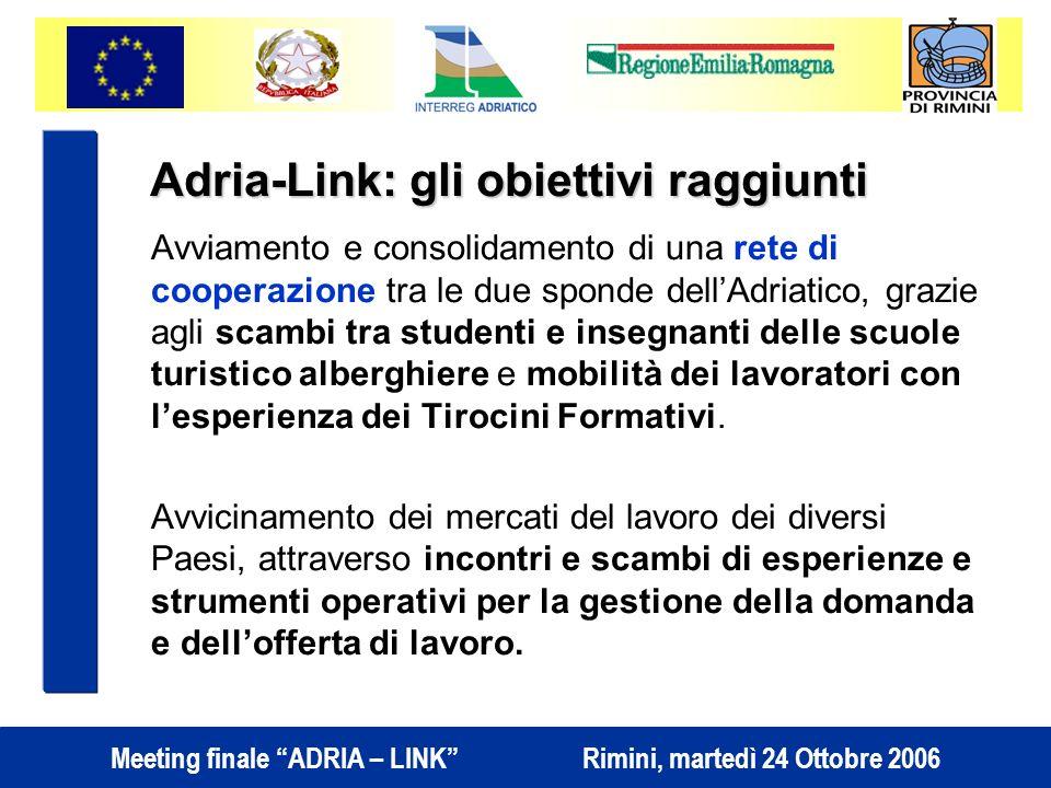 Adria-Link: gli obiettivi raggiunti